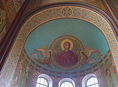 Роспись алтаря в соборе Архангела Михаила