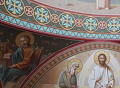 Роспись купола в соборе Архангела Михаила