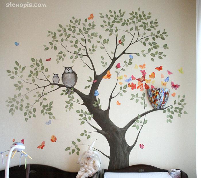 Роспись стен своими руками трафареты фото 210