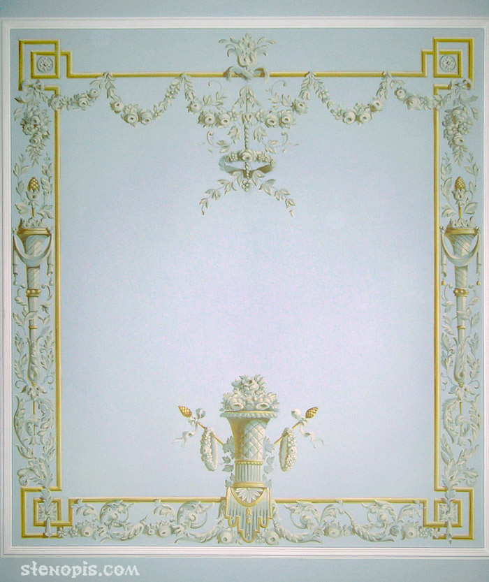 Роспись спальни. Орнамент, СПб