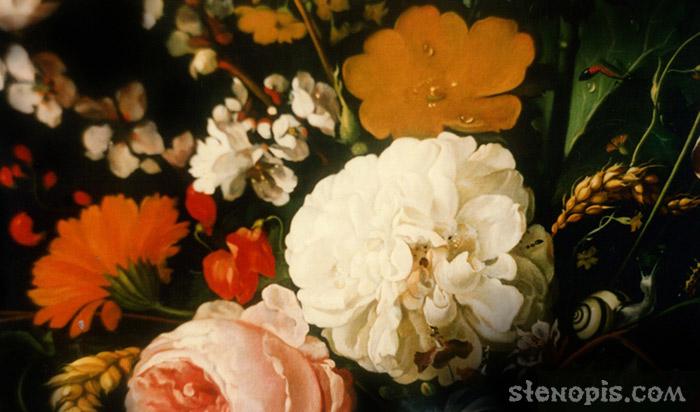 Картины яна давидса де хема цветы в